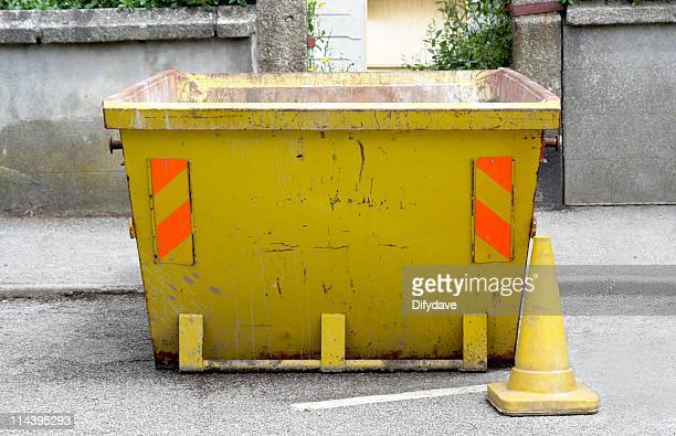 yellow skip - traffic cone stock pictures, royalty-free photos & images