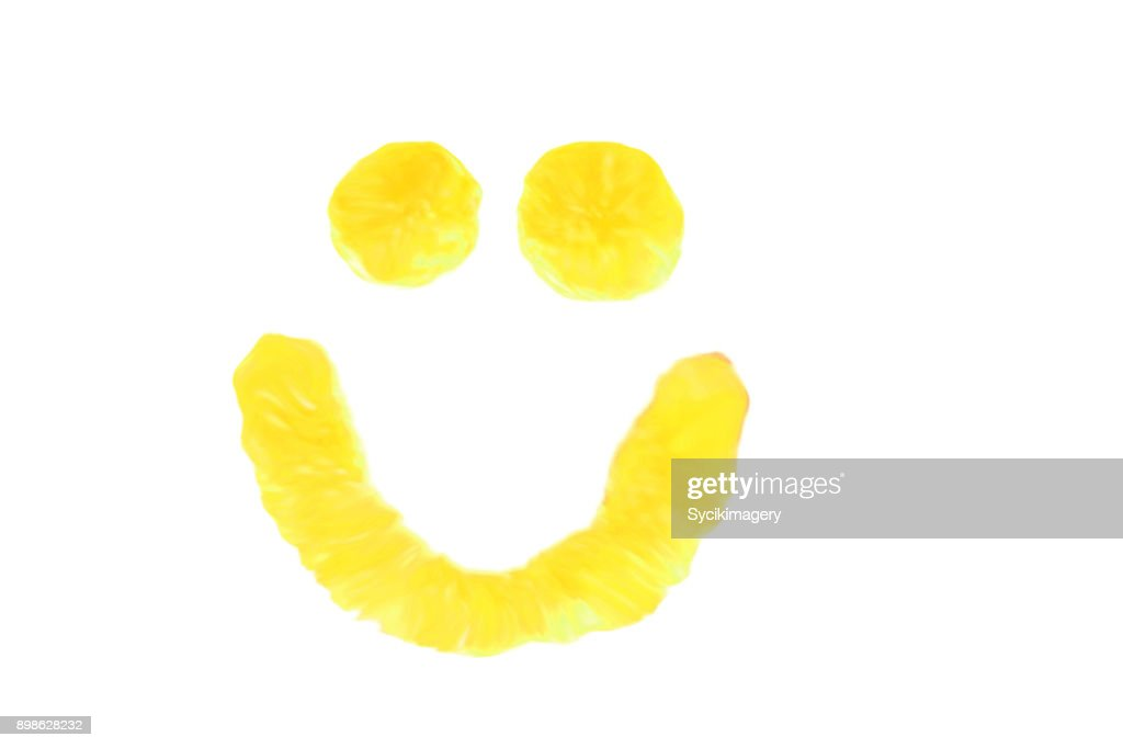Yellow smiley face : Stock Photo