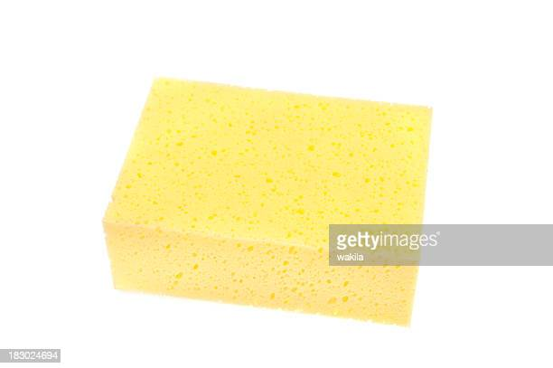 yellow sponge isolated on white