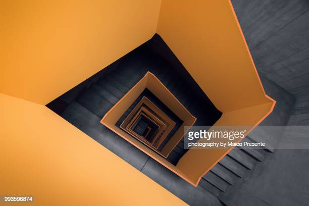 yellow staircase - down stock pictures, royalty-free photos & images