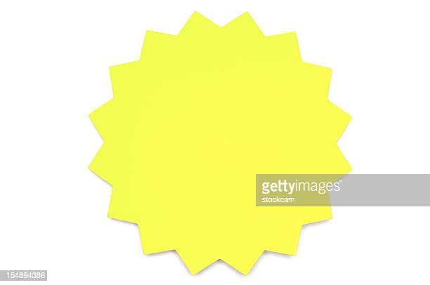 Gelbe Sterne-Post-it-Zettel auf Weiß