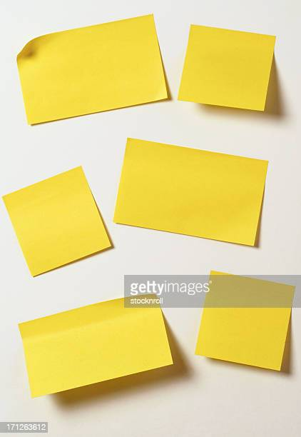 yellow sticky notes - adhesive note stock pictures, royalty-free photos & images