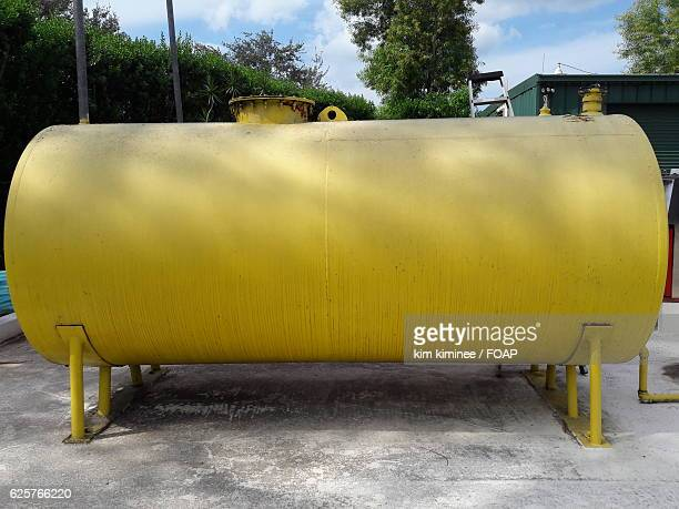 Yellow storage tank