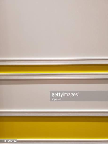 yellow stripes on white background - white stripes stock pictures, royalty-free photos & images