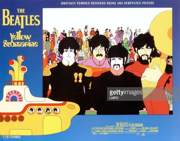 Yellow Submarine lobbycard Paul McCartney John Lennon Ringo Starr George Harrison 1968