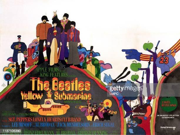 Yellow Submarine poster George Harrison Paul McCartney John Lennon Ringo Starr 1968