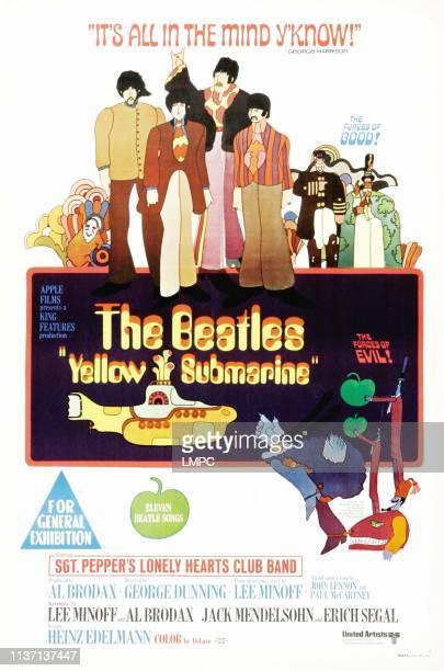 Yellow Submarine poster The Beatles Australian poster from left George Harrison Paul McCartney John Lennon Ringo Starr 1968