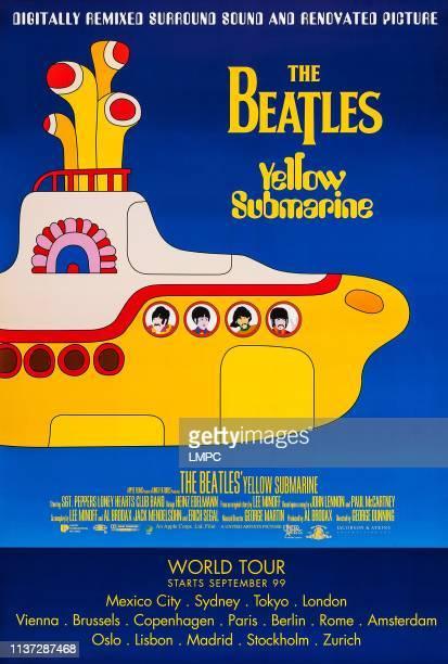 Yellow Submarine poster US rerelease poster art from left John Lennon Paul McCartney George Harrison Ringo Starr 1968