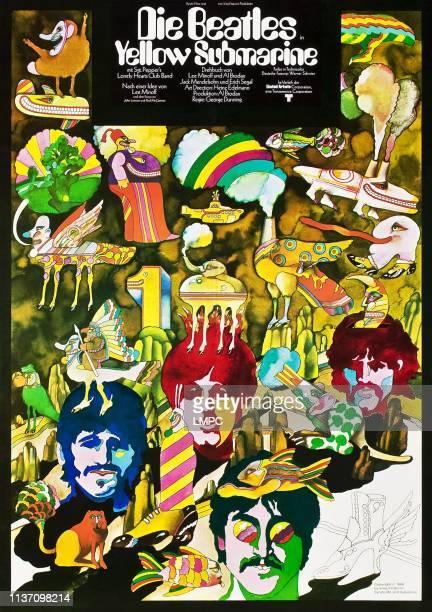 The Beatles poster German poster bottom from left Ringo Starr Paul McCartney John Lennon George Harrison 1968