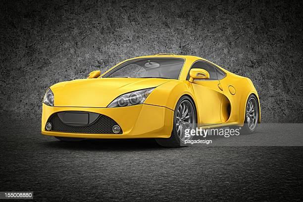 Gelbe supercar