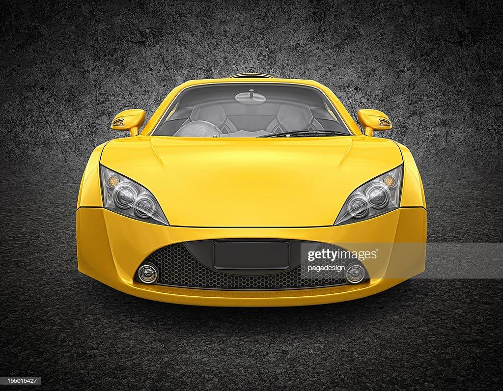 yellow supercar : Bildbanksbilder