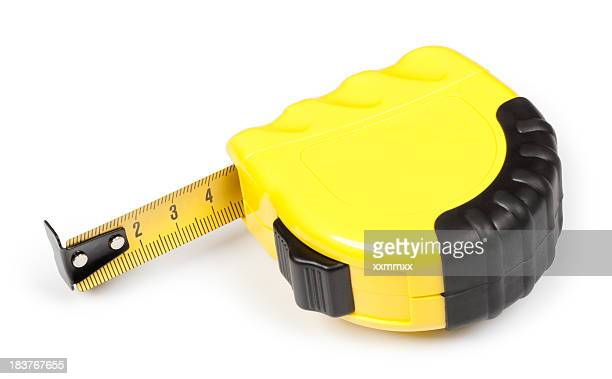 Yellow tape measure showing 4 1/2 inches