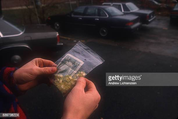 Yellow top crack cocaine and a ten-dollar bill seized as evidence. In the mid-1990s, East Bridgeport became a neighborhood of heavy drug trafficking....