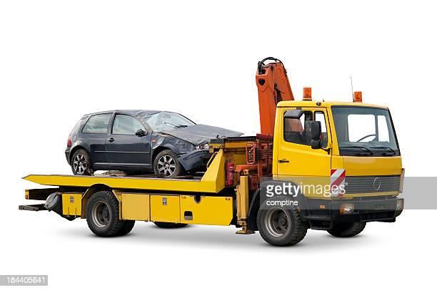 Amarillo camión de remolque