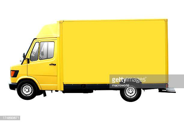 Yellow Truck Isolated