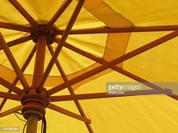 Abstrakte gelben Regenschirm