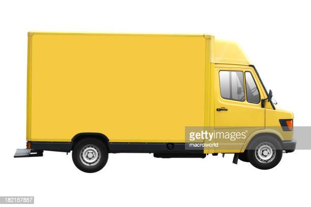 Yellow Van Isolated