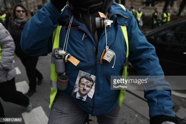 Yellow vest demonstrators attends the 'Act XII' demonstration in Paris France 02 February 2019 The socalled 'gilets jaunes' is a grassroots protest...