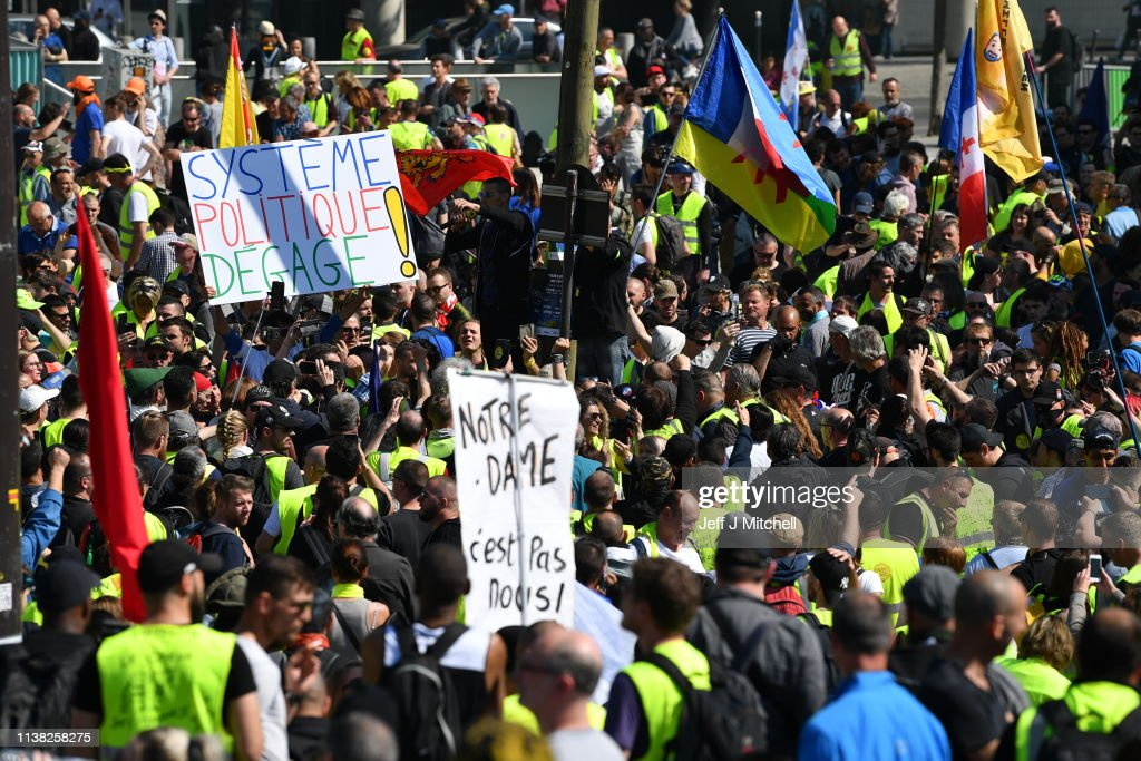 FRA: Weekly Gilets Jaunes Protest To Go Ahead Despite Notre Dame Fire