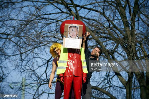 Yellow Vests protesters put a yellow vest on a statue Yellow Vests Act XIII dubbed 'Civil disobediencequot' of the Yellow Vest movement begun...