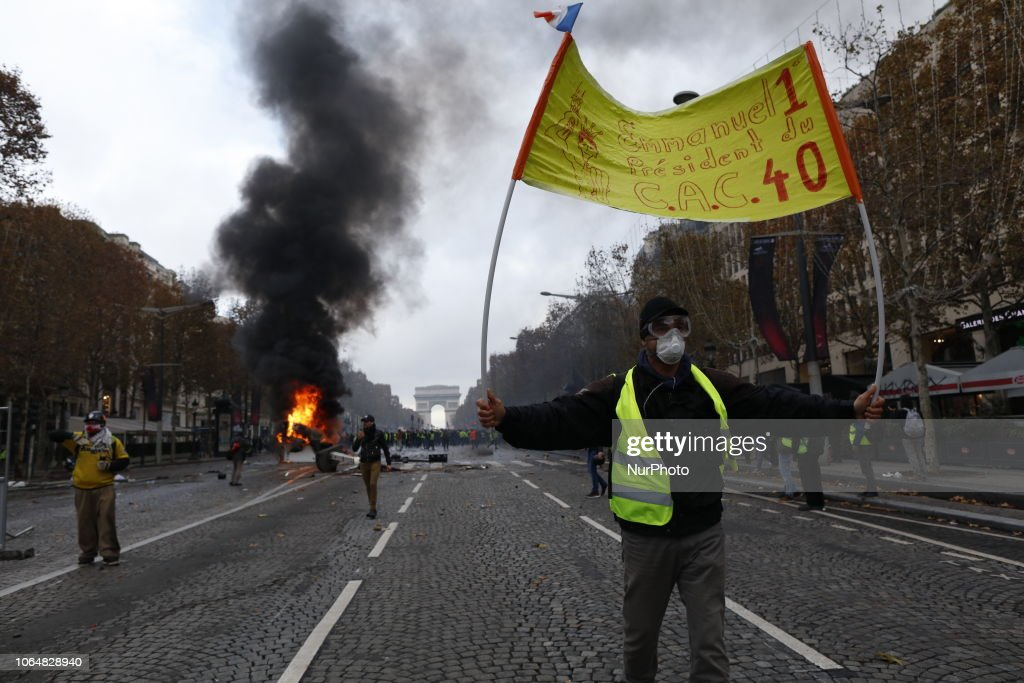 Protest Of Yellow Vests In Paris : News Photo