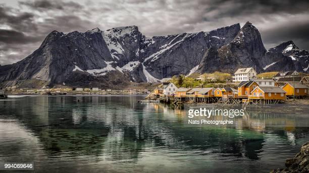 A Yellow village in Lofoten
