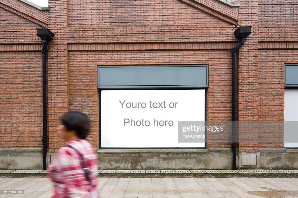 Yellow vintage brick wall with copyspace for your text or photo : Stock Photo
