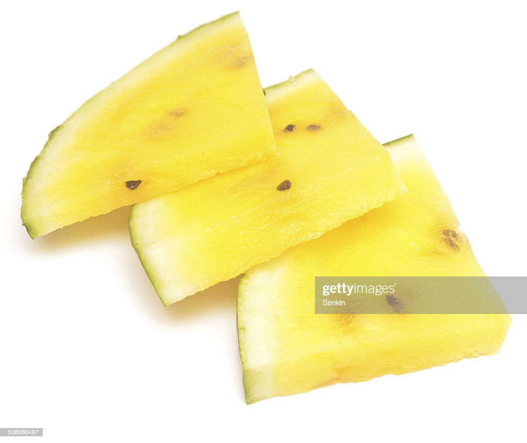 yellow watermelon : Stock Photo