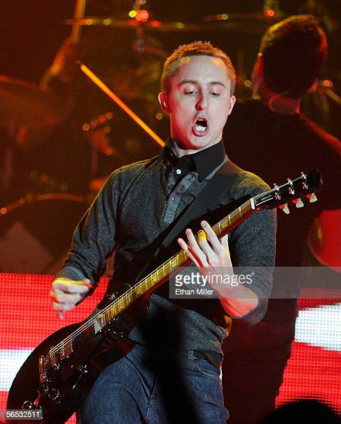 Yellowcard frontman Ryan Key performs at the Joint inside the Hard Rock Hotel Casino January 5 2006 in Las Vegas Nevada On Wednesday at the...
