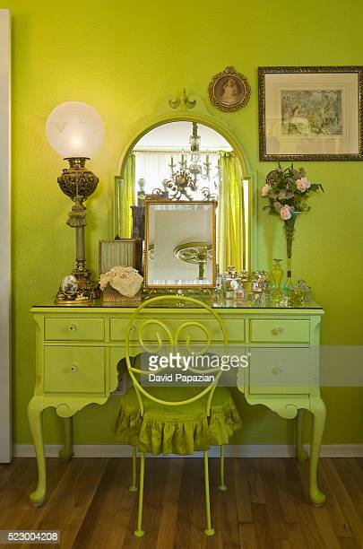 Yellow-green Dressing Table