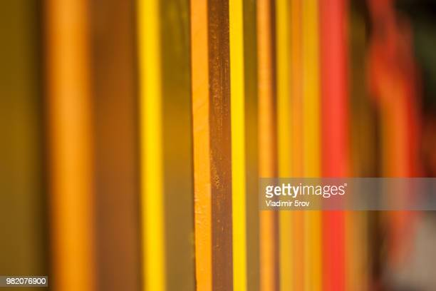 Yellow-orange-red fence