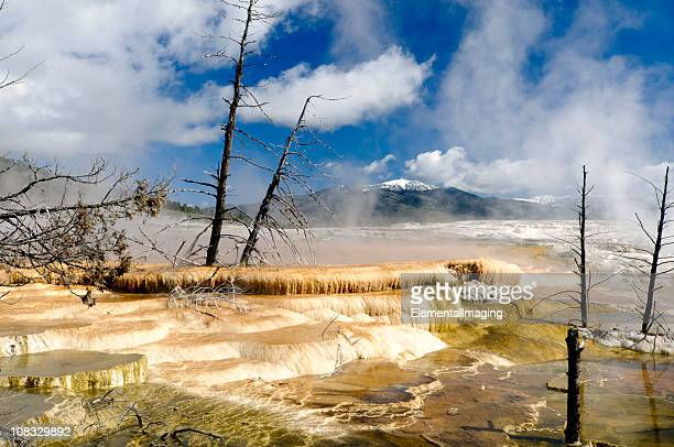Yellowstone-Nationalpark Mammoth Hot Springs oberen Terrasse HDR