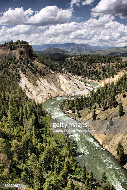 yellowstone river canyon - yellowstone river stock photos and pictures