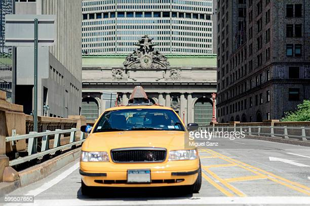 Yelow Taxis in front of Grand Central Station, New York City