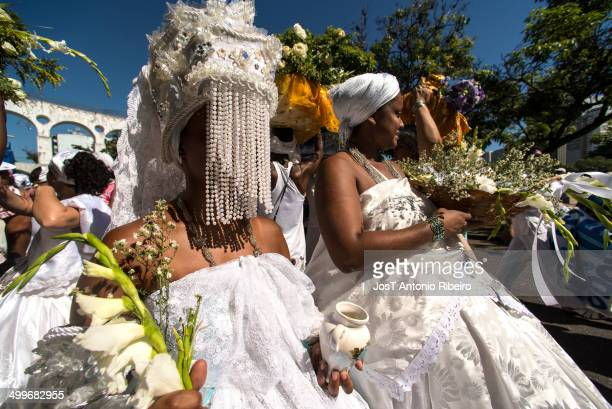 CONTENT] Yemanja also known as Queen of the Sea is an African deity and is part of the religion of Candomble and other AfricanBrazilian religions The...