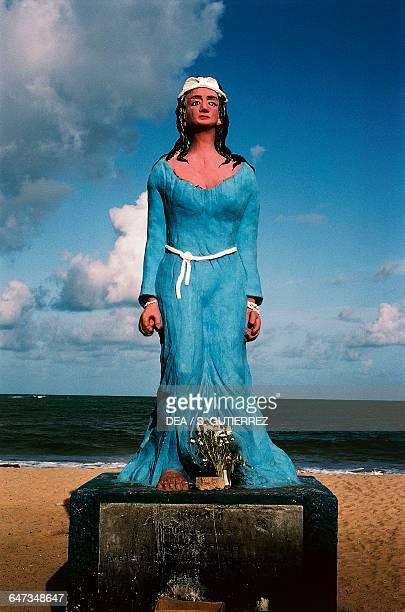 Yemanja, goddess of the sea, statue on Boa Viagem beach, Recife, Brazil.