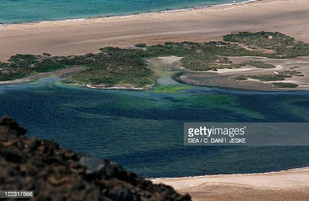 Yemen Al Zubair Archipelago Island of Saba lagoon and Red Sea