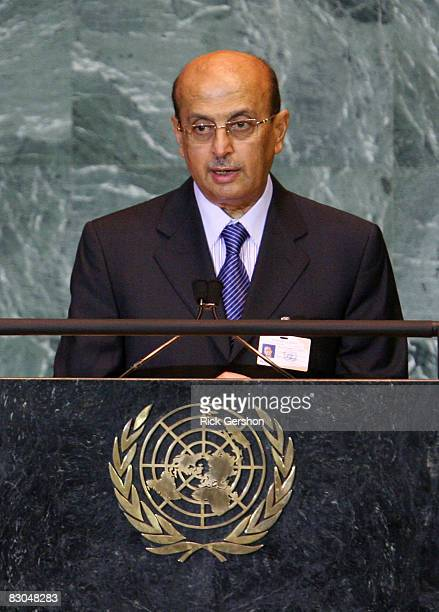 Yemen Minister for Foreign Affairs Abu bakr AlQirbi speaks at the 63rd annual United Nations General Assembly meeting September 29 2008 at UN...
