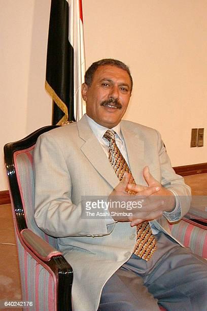 Yemen President Ali Abdullah Saleh speaks during the Asahi Shimbun interview on March 10 1999 in Sana'a Yemen