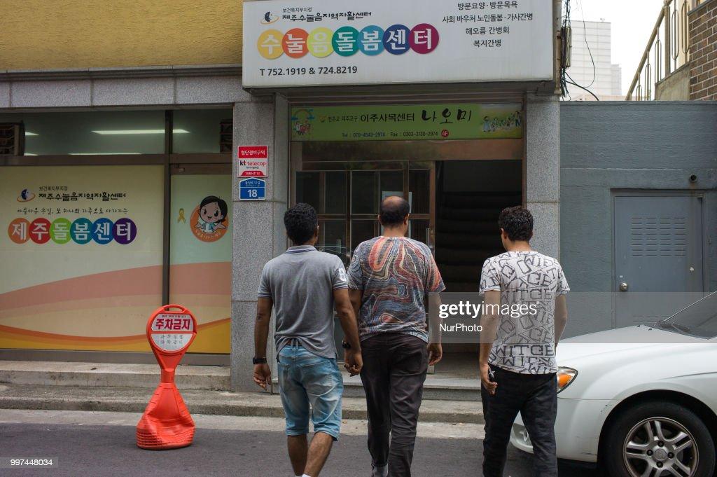 Yemeni refugees in Jeju Island, South Korea : Nachrichtenfoto