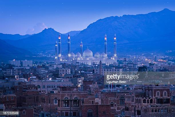 yemen, sana - al saleh mosque stock pictures, royalty-free photos & images