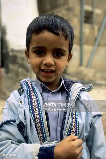 Yemen Sana'a Old Town Portrait Of Local Boy
