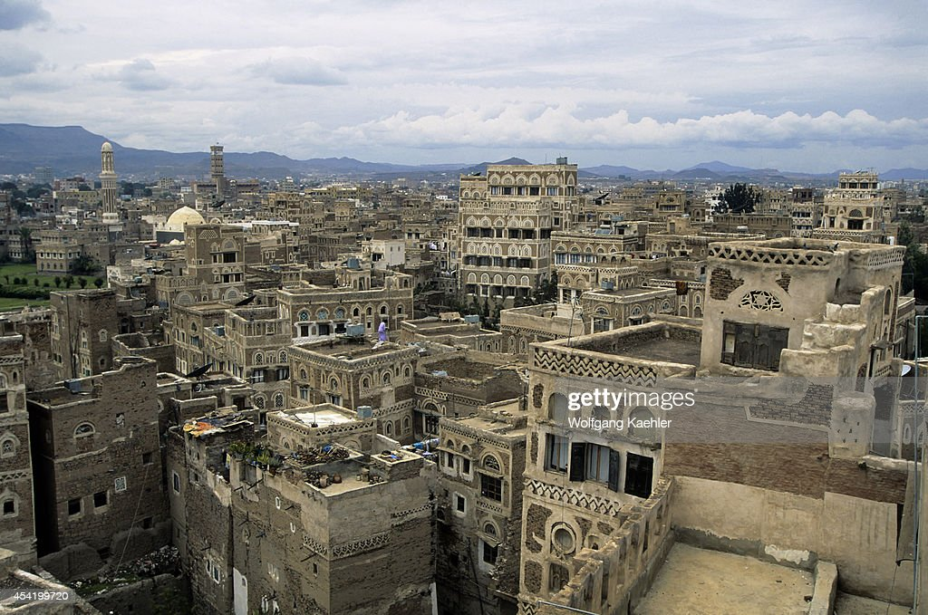 Yemen, Sana'a, Overview Of Town.