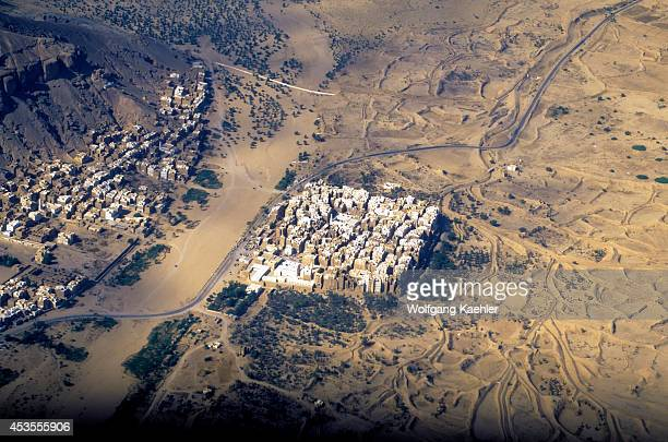 Yemen Wadi Hadramawt Aerial View Of Shibam City 'manhattan Of The Desert'