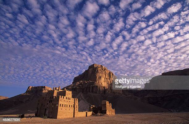 Yemen Wadi Hadramawt Near Say'un Small Village With Mud Brick Buildings