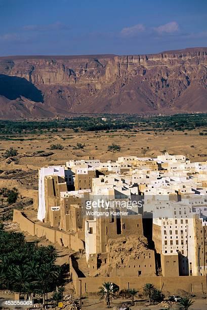 Yemen Wadi Hadramawt View Of Shibam From Hill 'manhattan Of The Desert'