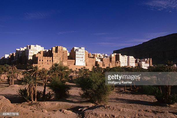 Yemen Wadi Hadramawt View Of Shibam 'Manhattan Of The Desert'