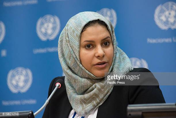 Yemeni activist Sahar Ghanem speaks to the press Noted author and public intellectual Gloria Steinem offered introductory remarks at a discussion on...
