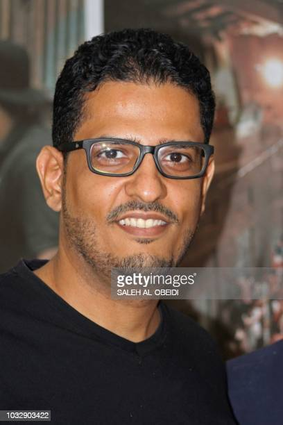 Yemeni director Amr Gamal poses for a photograph after the screening of his movie '10 Days Before the Wedding' at a cinema of the Southern city of...