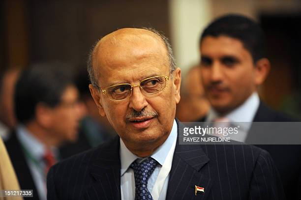 Yemeni Foreign Minister Abu Bakr AlQirbi arrives to attend the international donor meeting for Yemen in Riyadh on September 4 2012 The meeting will...